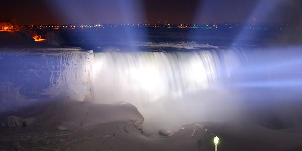 Blue & White Niagara Falls