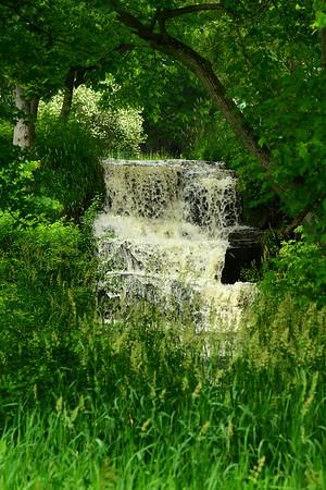 waterfall thru the trees