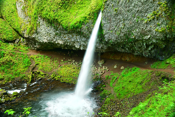 Ponytail falls from above