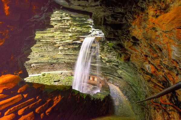 View of upper falls thru tunnel