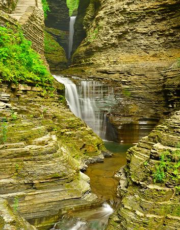 Vertical of three falls 11 x 14