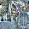 Frozen Decew Falls at Morningstar Mills January