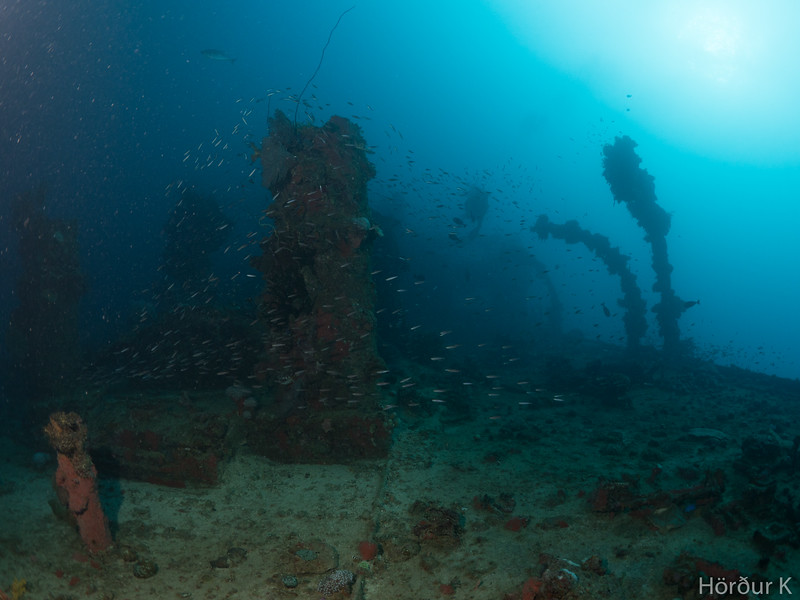 On the deck of Nippo Maru