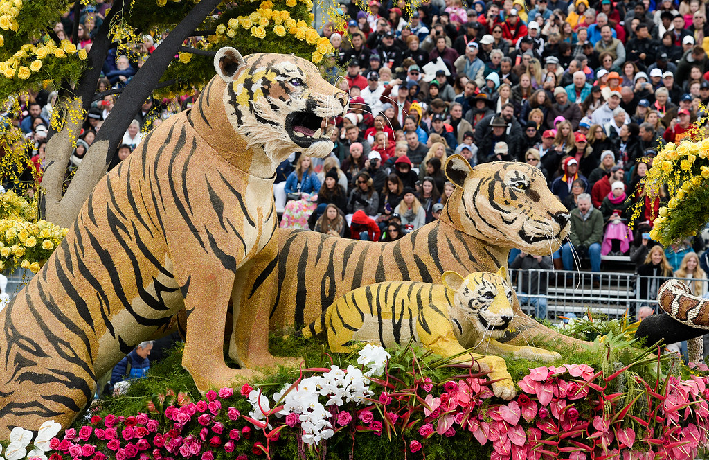 """. The Western Asset Management Company float \""""Prosperity in the World\"""" wins the Director\'s Award during the Rose Parade on Colorado Blvd. in Pasadena, Calif. on Monday,  January 2, 2017.  (Photo by Leo Jarzomb/Pasadena Star News/SCNG)"""