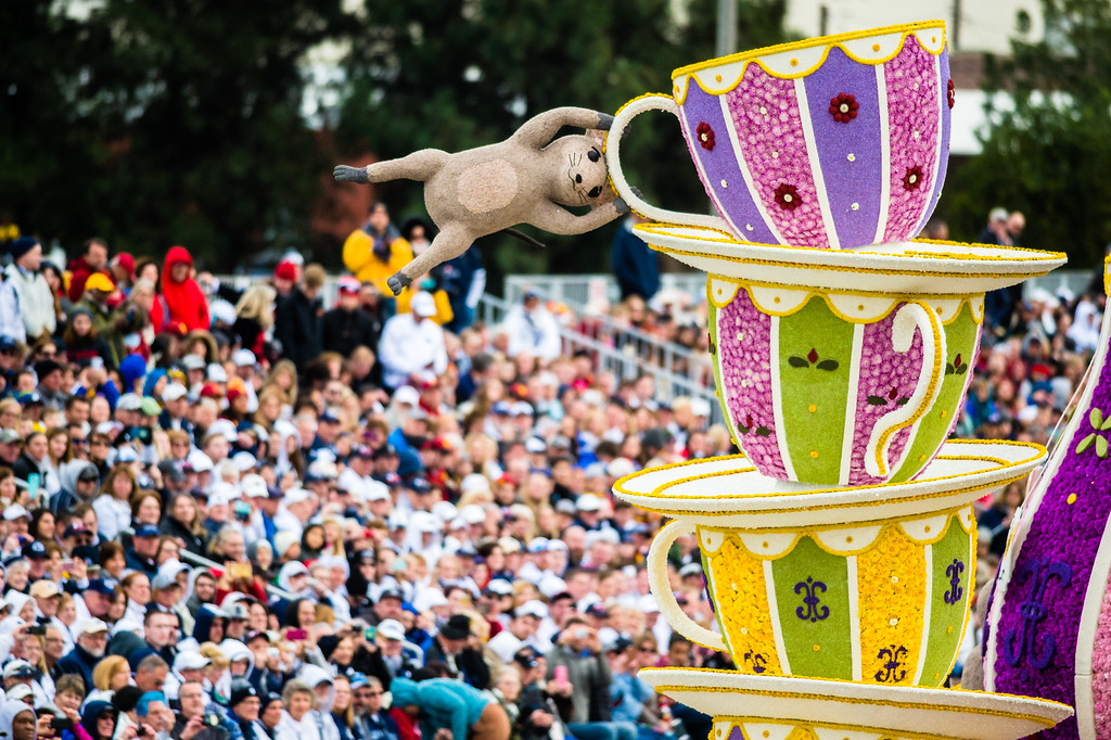 . Sierra Madre - �The Cat�s Away� float on Colorado Blvd. during the 2017 Rose Parade in Pasadena on Monday, January 2, 2017. (Photo by Watchara Phomicinda, San Gabriel Valley Tribune/ SCNG)