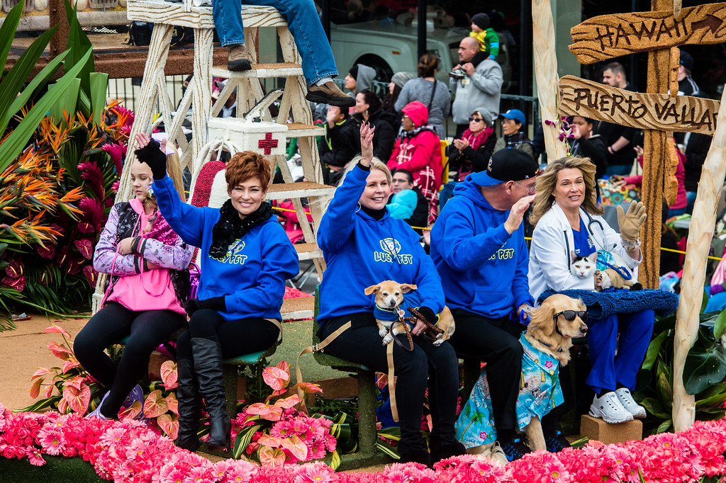 . Lucy Pet - �Lucy Pet�s Gnarly Crankin� K-9 Wave Maker� on Colorado Blvd. during the 2017 Rose Parade in Pasadena on Monday, January 2, 2017. (Photo by Watchara Phomicinda, San Gabriel Valley Tribune/ SCNG)