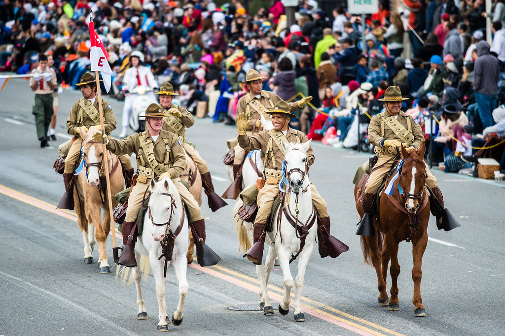 . Philippine Scouts Heritage Society � U.S. Army�s 26th Cavalry Regiment ride during the 2017 Rose Parade in Pasadena on Monday, January 2, 2017. (Photo by Watchara Phomicinda, San Gabriel Valley Tribune/ SCNG)