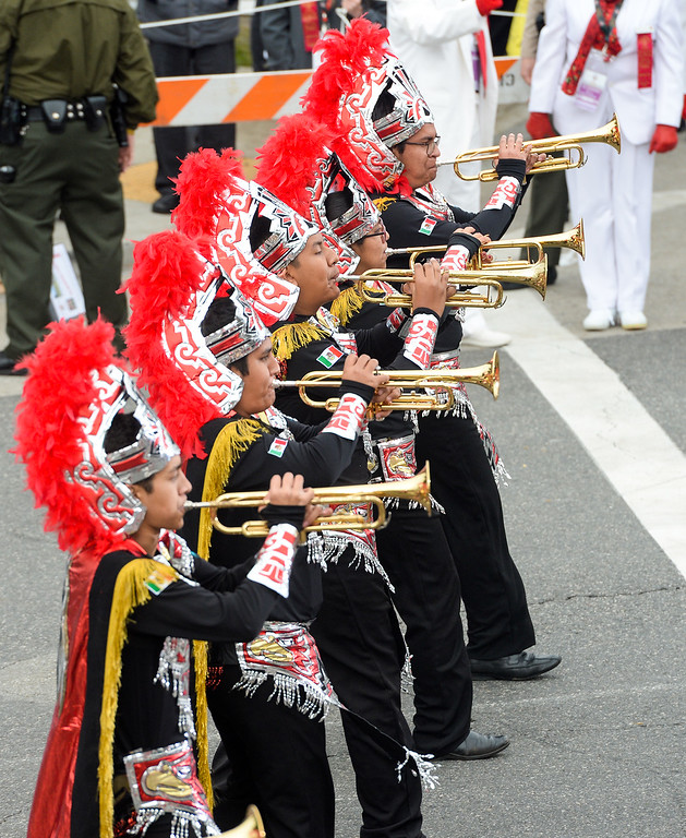 . The Buhos Marching Band from Xalapa, Veracruz, Mexico during the Rose Parade on Colorado Blvd. in Pasadena, Calif. on Monday,  January 2, 2017.  (Photo by Leo Jarzomb/Pasadena Star News/SCNG)