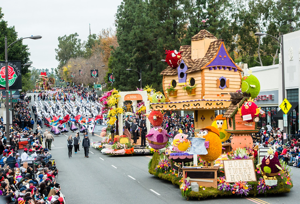 . Burbank Tournament of Roses Association - �Home Tweet Home� on Colorado Blvd. during the 2017 Rose Parade in Pasadena on Monday, January 2, 2017. (Photo by Watchara Phomicinda, San Gabriel Valley Tribune/ SCNG)