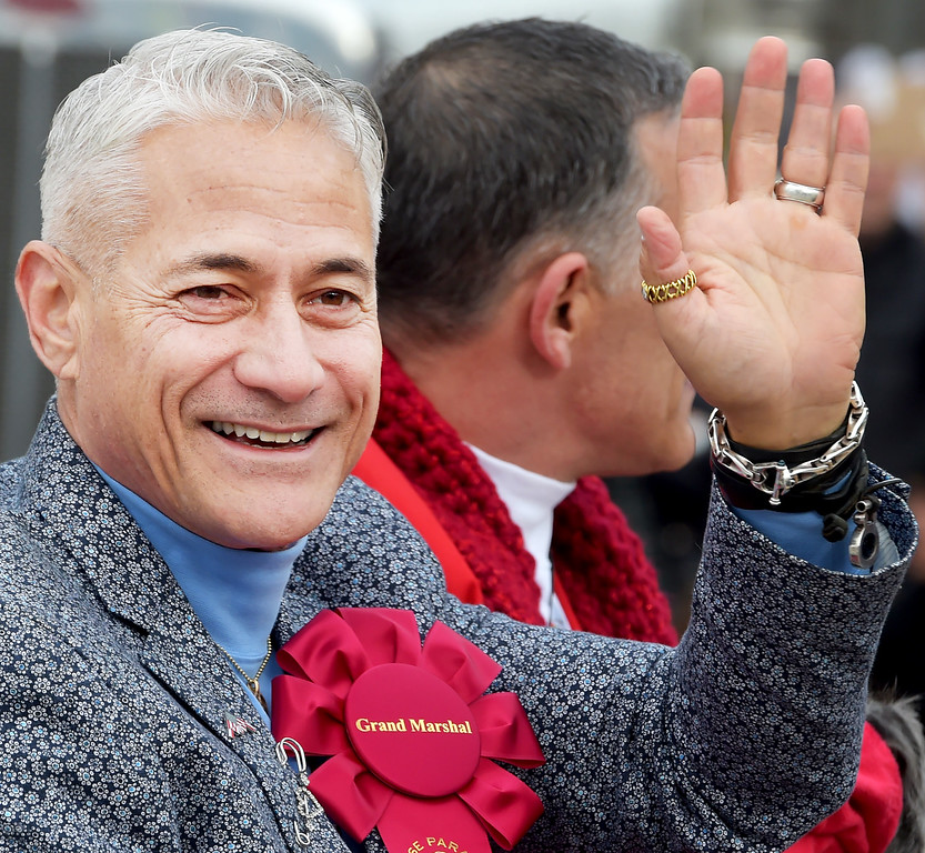 . Greg Louganis, Grand Marshal of the 2017 Rose Parade. Louganis 5 Olympic medals, 5 World Championships titles, and 6 Pan American Champion. (Photo by Walt Mancini/Pasadena Star-News/SCNG)