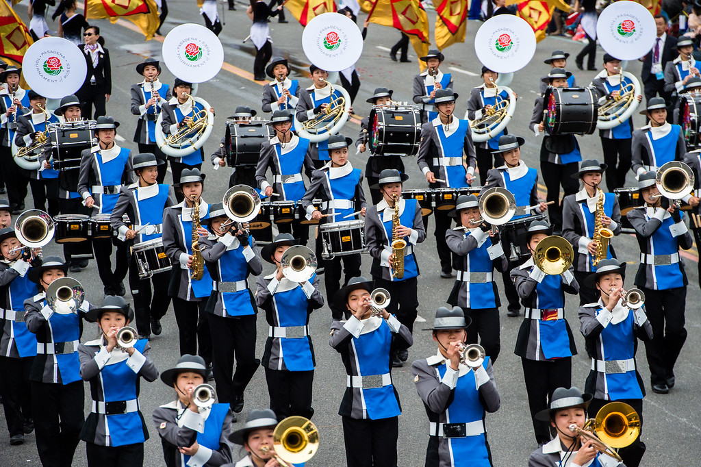 . Gifusho Green Band: Gifu, Japan on Colorado Blvd. during the 2017 Rose Parade in Pasadena on Monday, January 2, 2017. (Photo by Watchara Phomicinda, San Gabriel Valley Tribune/ SCNG)