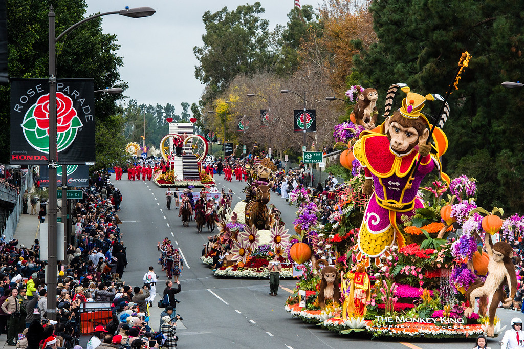 . BDK, A Singpoli Affiliate �The Monkey King: Journey to Success� on Colorado Blvd. during the 2017 Rose Parade in Pasadena on Monday, January 2, 2017. (Photo by Watchara Phomicinda, San Gabriel Valley Tribune/ SCNG)