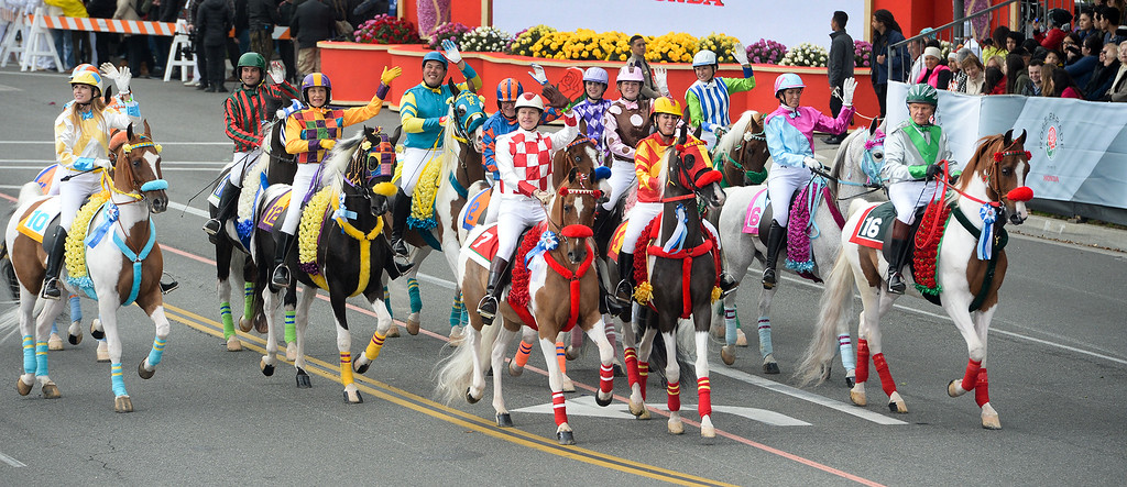. Scripps Miramar Saddlebreds during the Rose Parade on Colorado Blvd. in Pasadena, Calif. on Monday,  January 2, 2017.  (Photo by Leo Jarzomb/Pasadena Star News/SCNG)