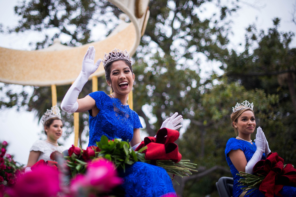 . Princess Maya and the Rose Court during the 2017 Rose Parade in Pasadena, Calif. on Monday, Jan. 2, 2017. (Photo by Sarah Reingewirtz, Pasadena Star-News/SCNG)