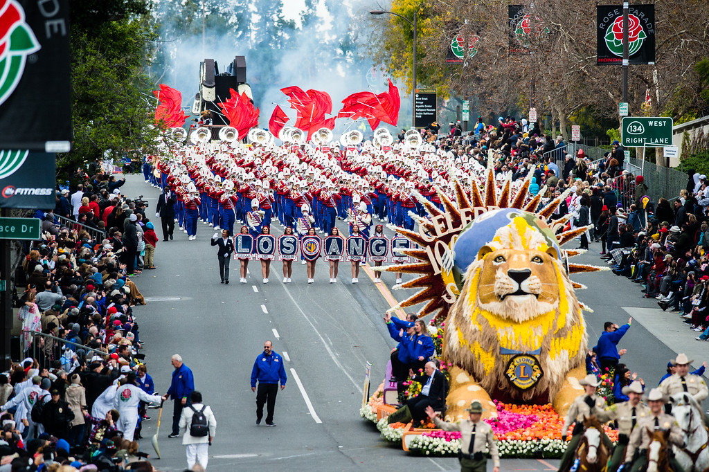 """. Lions Club International - �Celebrating 100 Years of Service\"""" float on Colorado Blvd. during the 2017 Rose Parade in Pasadena on Monday, January 2, 2017. (Photo by Watchara Phomicinda, San Gabriel Valley Tribune/ SCNG)"""