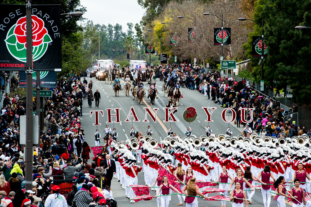 . It\'s a wrap as the 2017 Rose Parade came to an end on Colorado Blvd.  in Pasadena on Monday, January 2, 2017. (Photo by Watchara Phomicinda, San Gabriel Valley Tribune/ SCNG)