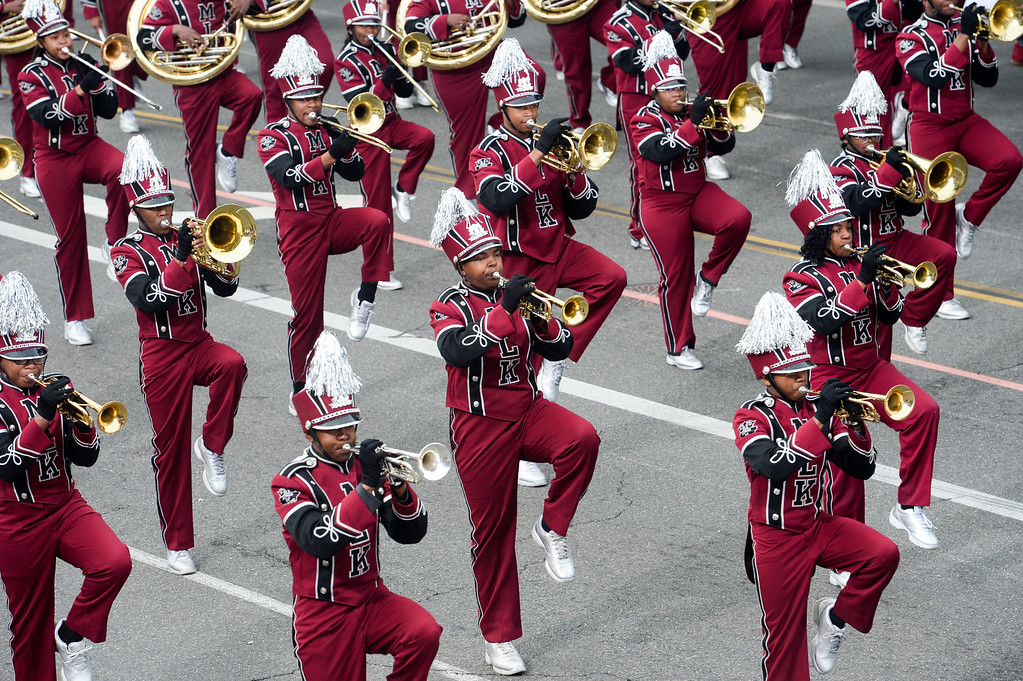 . The Martin Luther King Jr. High School Marching Band from Lithonia, Georgia during the Rose Parade on Colorado Blvd. in Pasadena, Calif. on Monday,  January 2, 2017.  (Photo by Leo Jarzomb/Pasadena Star News/SCNG)