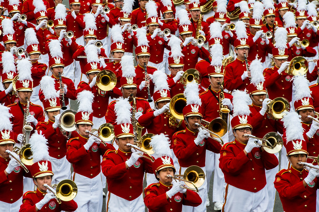 . Pasadena City College Tournament of Roses Honor Band on Colorado Blvd. during the 2017 Rose Parade in Pasadena on Monday, January 2, 2017. (Photo by Watchara Phomicinda, San Gabriel Valley Tribune/ SCNG)