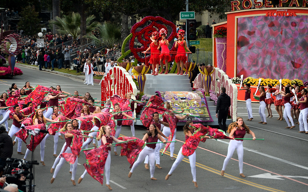 . The opening of the Rose Parade on Colorado Blvd. in Pasadena, Calif. on Monday,  January 2, 2017.  (Photo by Leo Jarzomb/Pasadena Star News/SCNG)