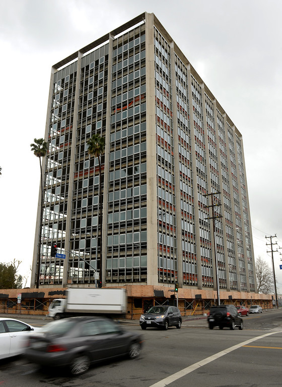 . Mixed use projects in Panorama City include this 13 story former office building that is being converted to loft apartments on Van Nuys Blvd. just south of Roscoe Blvd. (Photo by Dean Musgrove, Los Angeles Daily News/SCNG)