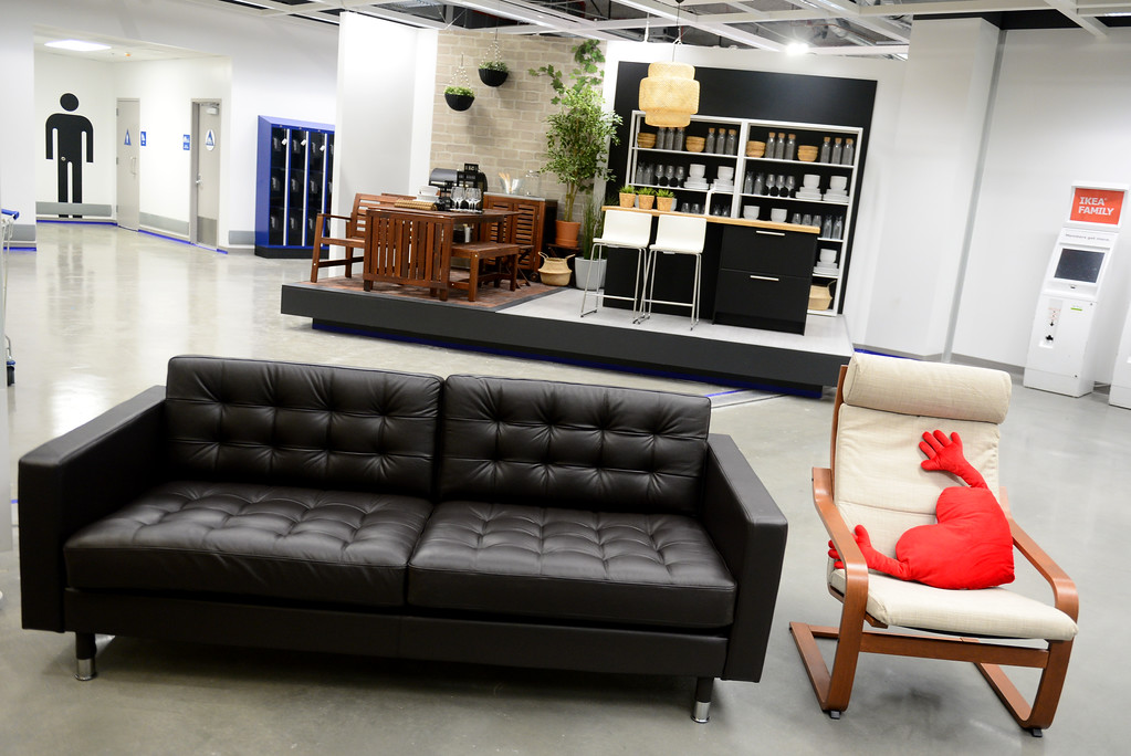 . On the day of the store opening, the first 26 adults will receive a LANDSKRONA sofa, the next 100 adults a POANG armchair and the first 100 children will receive a FAMNIG heart-shaped soft toy.The 456,000 square-foot new IKEA in Burbank is located on 22 acres. The opening is scheduled for Wednesday, February 8.  IKEA held a media preview on Wednesday, February 1, 2017.  (Photo by Dean Musgrove, Los Angeles Daily News/SCNG)