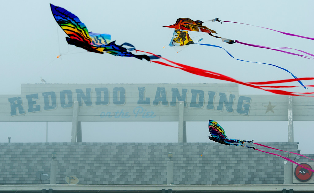 . Kites take to the air at the 43rd Annual Festival of the Kite at the Redondo Beach Pier in Redondo Beach Sunday, March 12, 2017. (Photo by Thomas R. Cordova, Daily Breeze/SCNG)