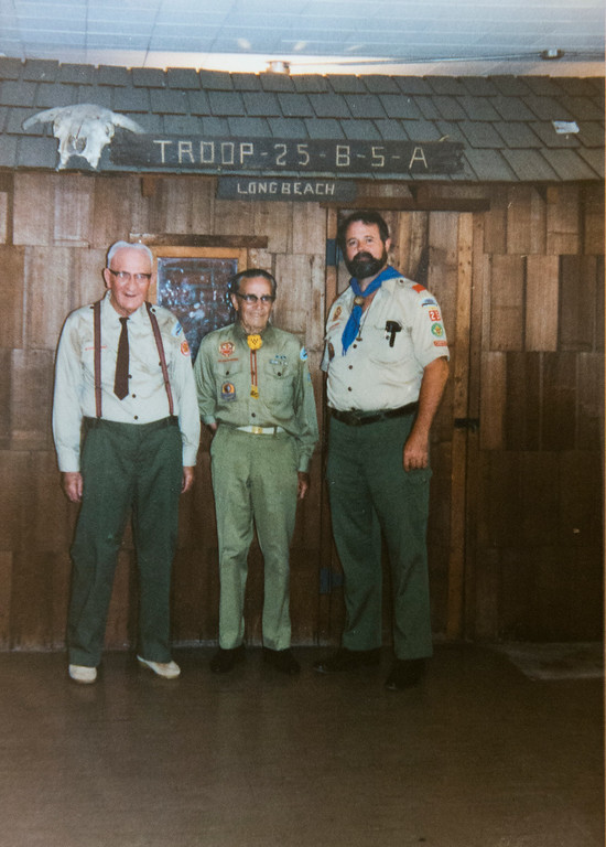 . Photo circa 1985 Andy Hale, left, the assistant scoutmaster for Boy Scout Troop 25 is looking for new home for the troop because the property is being redeveloped into a mixed-use development with a church,  condos, and stores in Long Beach Wednesday, April 12, 2017.  (Photo by Thomas R. Cordova, Press-Telegram/SCNG)