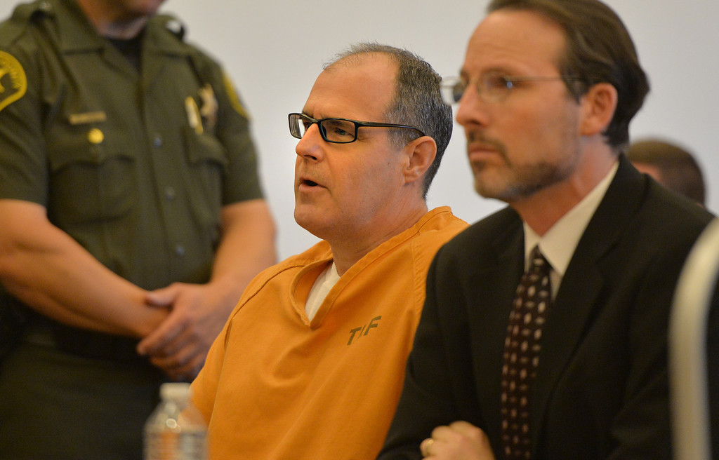 . Scott Evans Dekraai appears in the Santa Ana Courthouse to enter a guilty plea in largest Orange County mass murder. Dekraai killed 8 people two years ago in Seal Beach at Salon Meritage. Santa Ana May 2, 2014. (Photo by Brittany Murray / Daily Breeze)