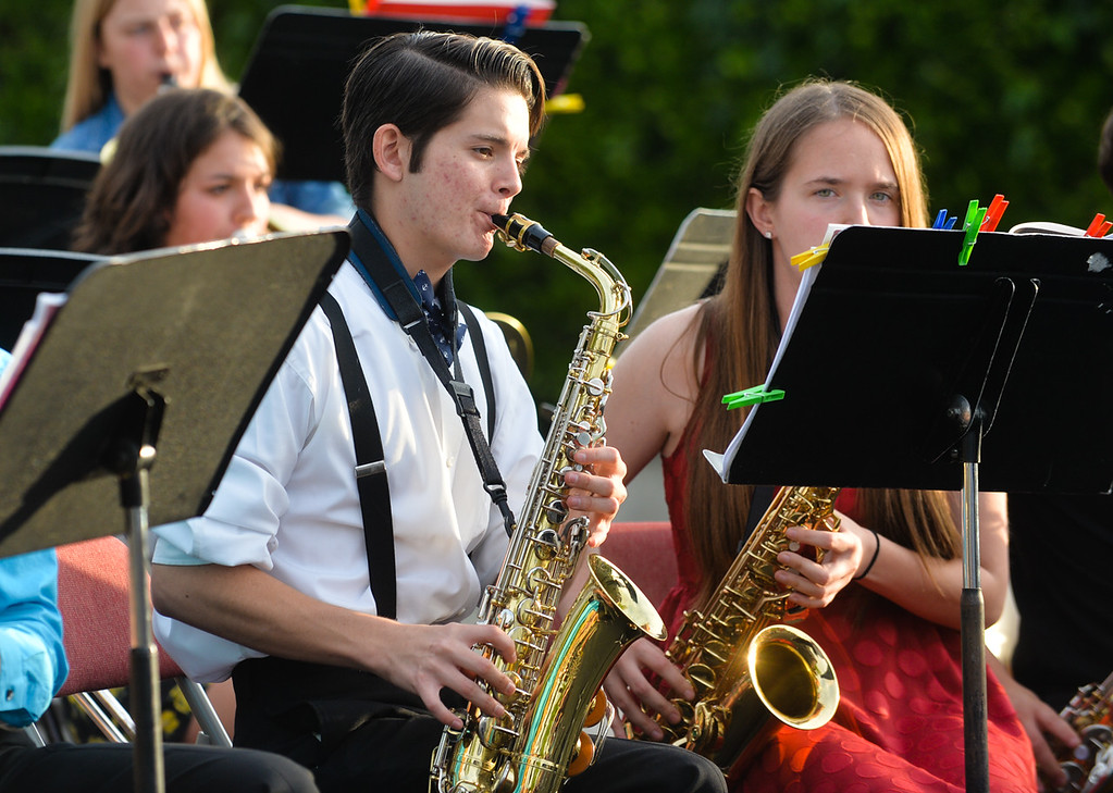 . Yucaipa High School band performs at the annual Yucaipa Music and Arts Festival in uptown Yucaipa, Calif. on Friday, May 5, 2017. The festival featured live entertainment, carnival, arts and other activities. (Photo by Rachel Luna, Redlands Daily Facts/SCNG)