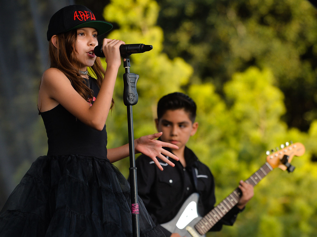 . Youth band Sugar Bomb performs at the annual Yucaipa Music and Arts Festival in uptown Yucaipa, Calif. on Friday, May 5, 2017. The festival featured live entertainment, carnival, arts and other activities. (Photo by Rachel Luna, Redlands Daily Facts/SCNG)