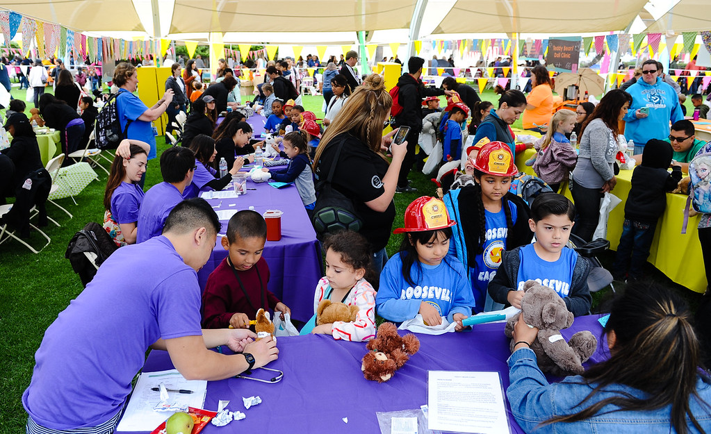 . Local youth learn what its like to work in the medical field during the 32nd annual Children\'s Day at Loma Linda University Children\'s Hospital in Loma Linda, Calif. on Wednesday, May 10, 2017. (Photo by Rachel Luna, Redlands Daily Facts/SCNG)