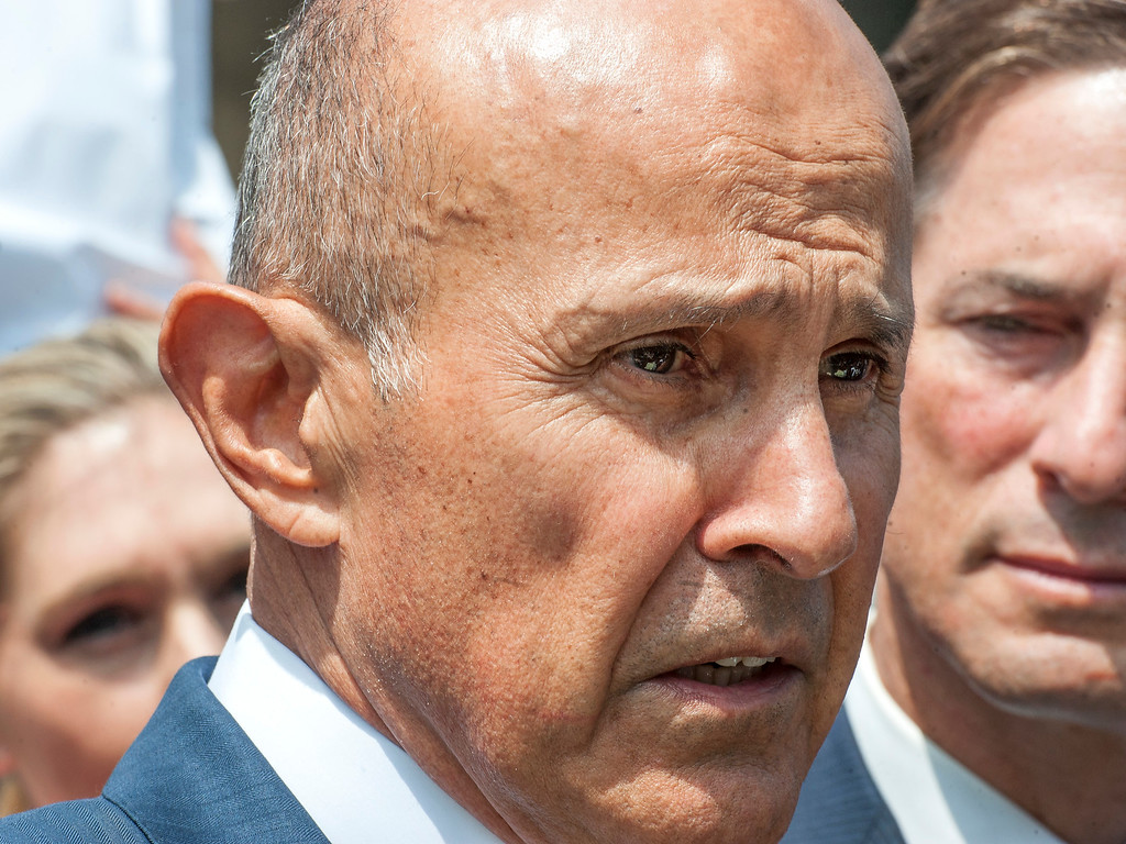 . Former LA County Sheriff Lee Baca addresses the media as his attorney Nathan Hochman, right, looks on in front of the Federal Courthouse in Los Angeles after his sentencing hearing on Friday, May 12, 2017. He was sentence 36 months to federal prison. (Photo by Ed Crisostomo, Los Angeles Daily News/SCNG)