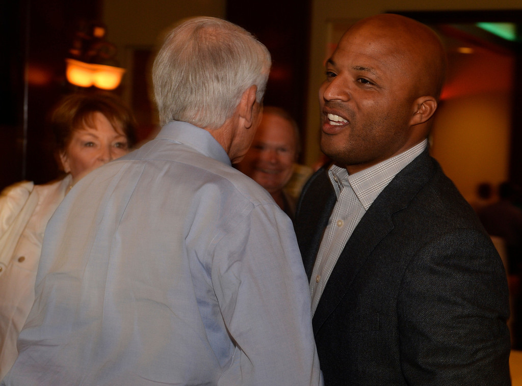 . Long Beach mayoral candidate Damon Dunn at The Grand Long Beach Event Center in Long Beach, CA. Tuesday June 3, 2014. (Thomas R. Cordova-Daily Breeze/Press-Telegram)