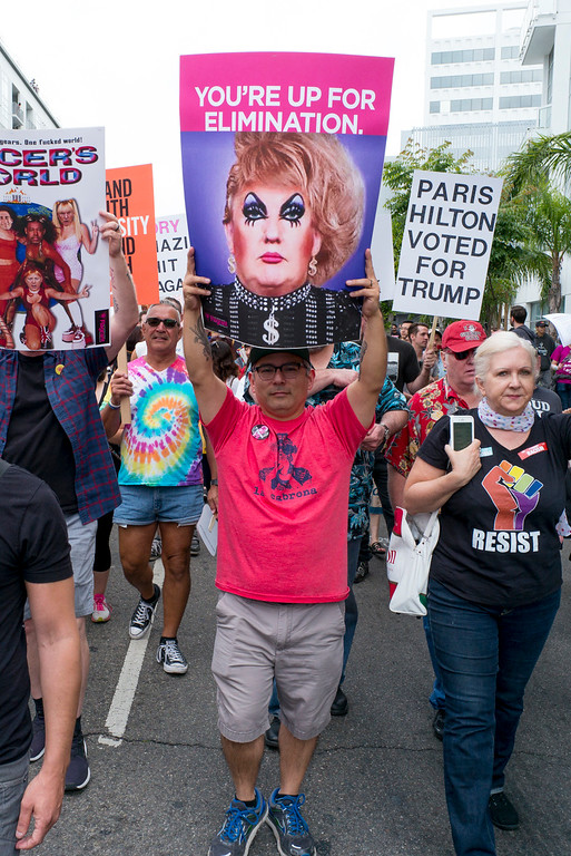 . Thousands march in the LA Pride Resist March Sunday, June 11, 2017.  Thousands of participants marched from Hollywood to West Hollywood for the annual LA Pride March. ( Photo by David Crane, Los Angeles Daily News/SCNG)