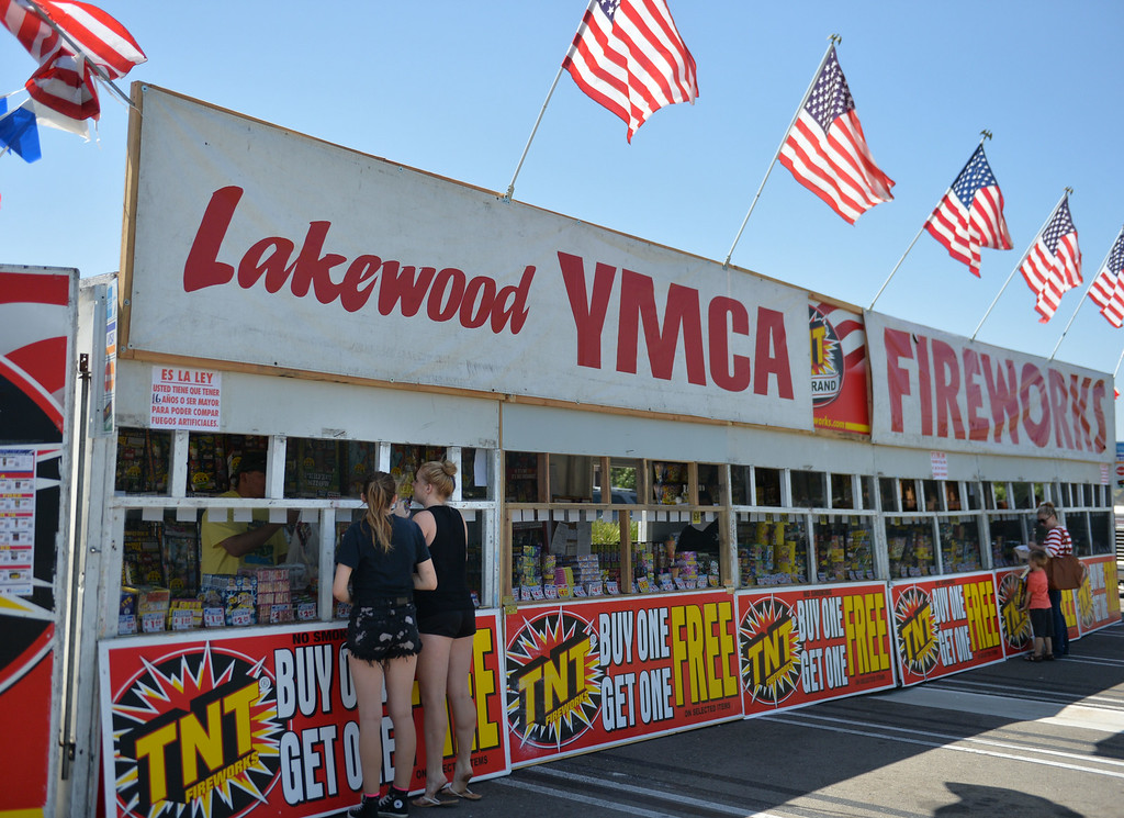 . The calm before the storm on Wednesday afternoon at the Lakewood YMCA fireworks stand. Safe and Sane fireworks are legal in Lakewood and the stands will likely be very busy the next two days.  Long Beach July 2, 2014.  (Photo by Brittany Murray / Daily Breeze)