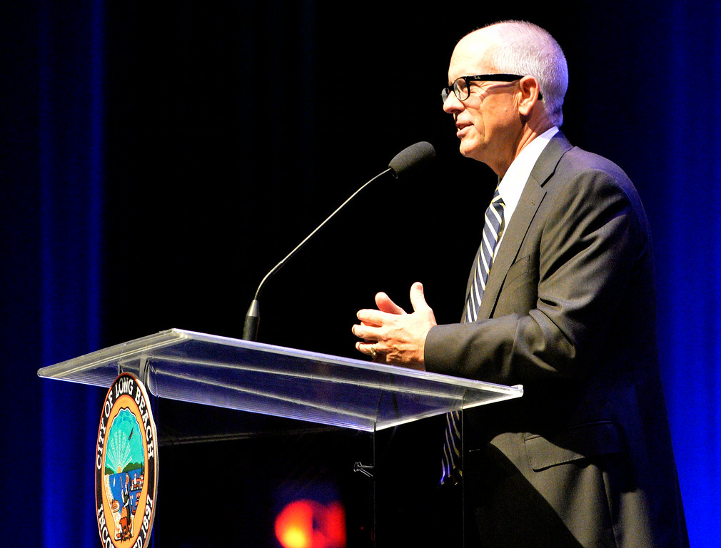 . Charles Parkin at the Long Beach 2014 Inauguration at the Terrace Theater in Long Beach, CA. Tuesday July 15, 2014. (Thomas R. Cordova-Daily Breeze/Press-Telegram)