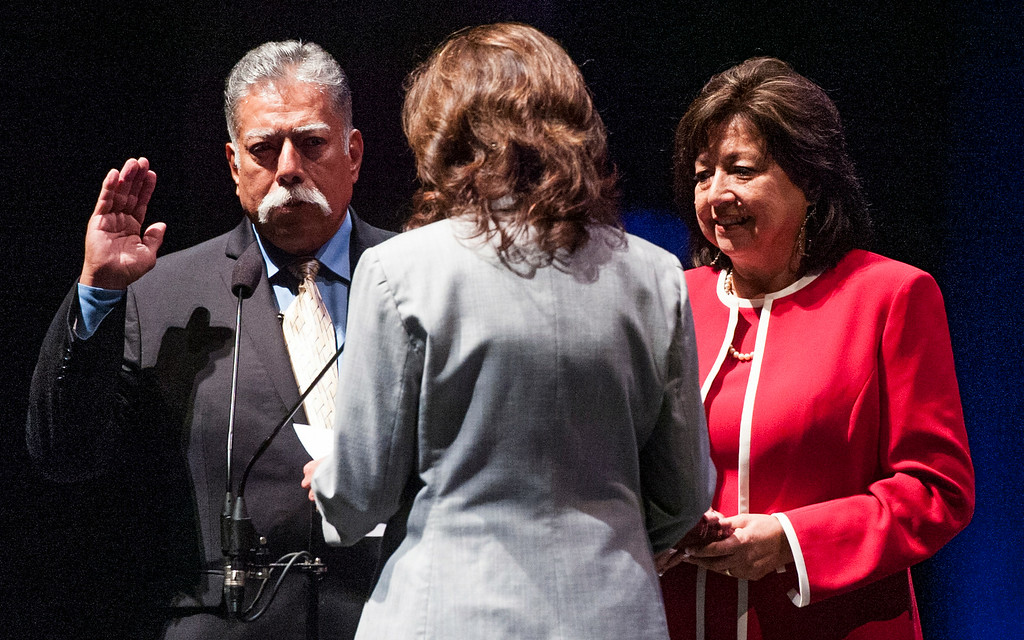 . Robert Uranga at the Long Beach 2014 Inauguration at the Terrace Theater in Long Beach, CA. Tuesday July 15, 2014. (Thomas R. Cordova-Daily Breeze/Press-Telegram)