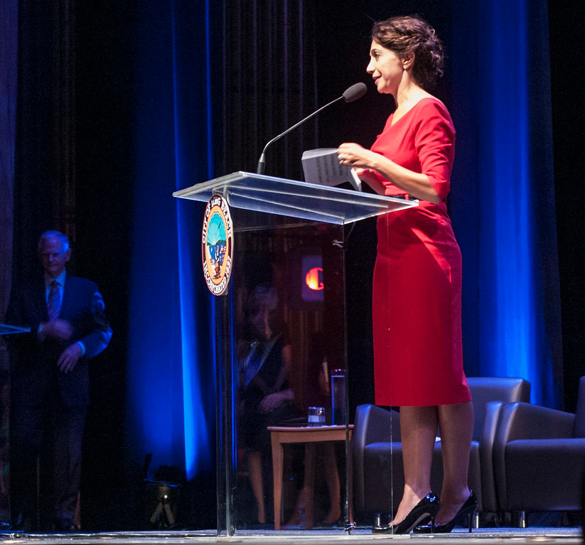 . Suzie Price at the Long Beach 2014 Inauguration at the Terrace Theater in Long Beach, CA. Tuesday July 15, 2014. (Thomas R. Cordova-Daily Breeze/Press-Telegram)
