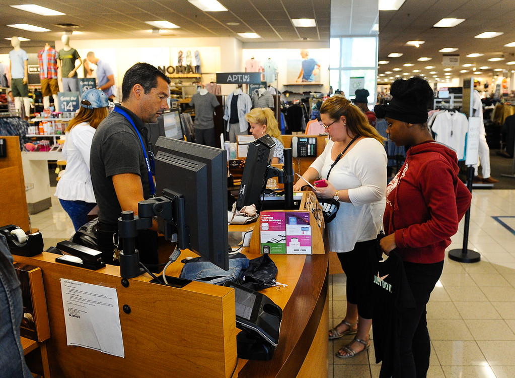 . Boys & Girl Club members enjoy a back-to-school $100 shopping spree at Kohl\'s in Redlands, Calif. on Saturday, Aug. 5, 2017. Local nonprofits and community leaders escorted 122 Boys & Girls Club members around Kohl\'s to help pick out clothes and accessories for the new school year. (Photo by Rachel Luna, The Sun/SCNG)