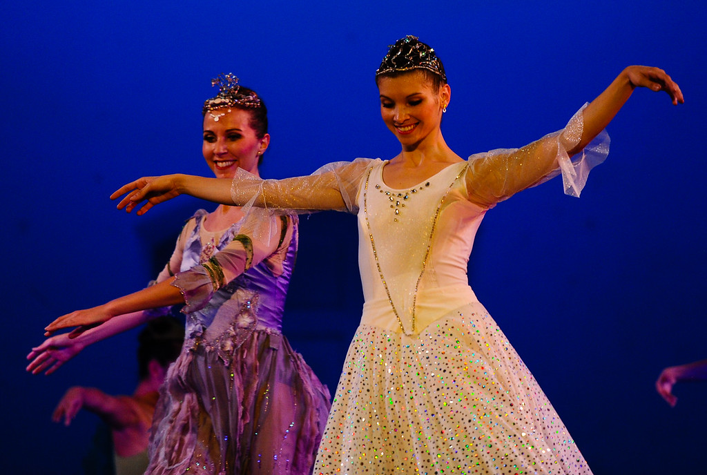 . Professional company State Street Ballet of Santa Barbara performs the classic Cinderella story on stage at the Redlands Bowl in Redlands, Calif. on Friday, Aug. 17, 2017. The performance part of the Redlands Bowl\'s Summer Music Festival. (Photo by Rachel Luna, Redlands Daily Facts/SCNG)