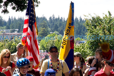 Pack 304 is represented in the kids parade.