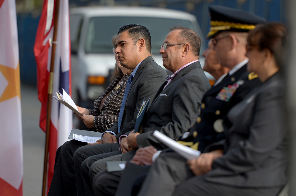. Long Beach host a memorial, �Lest We Forget,� at the Civic Center Plaza in Long Beach, CA. Wednesday, December 7, 2016. Long Beach Mayor Robert Garcia, Historical Society President Niki Tennant and California Department of Veterans Affairs Secretary Vito Imbasciani were among the speakers at the free event.(Photo by Thomas R. Cordova, Press-Telegram/SCNG)