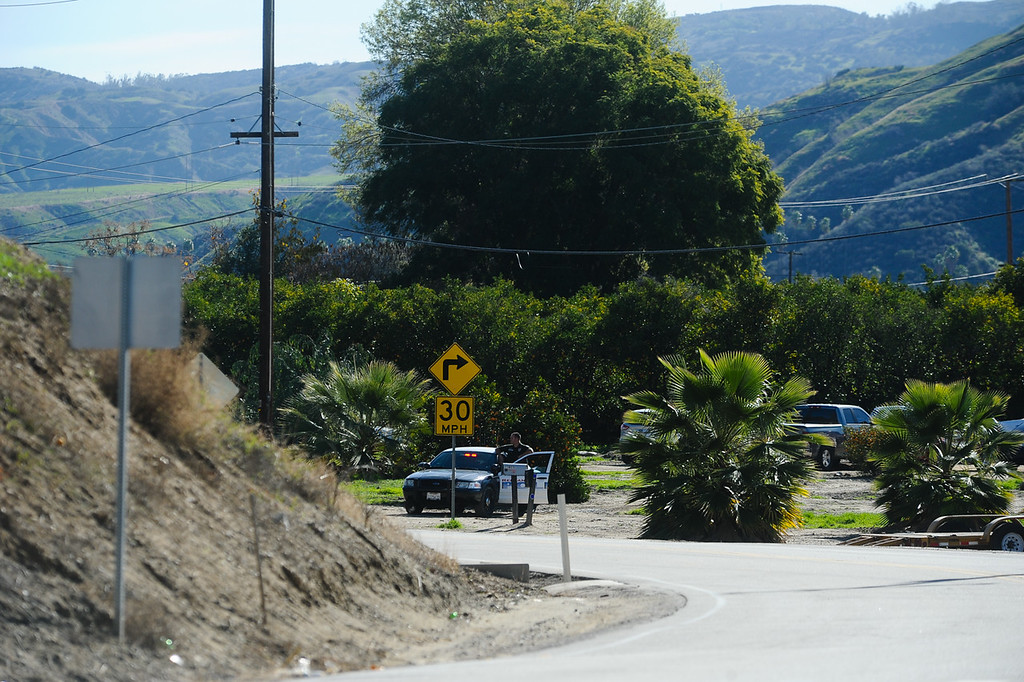 . Authorities say a parolee-at-large arm himself with a long gun and then barricaded himself in a home in Loma Linda, Calif. on Wednesday, Dec. 28, 2016. Nearby homes were evacuated, and a local roadway was closed. (Photo by Rachel Luna/Redlands Daily Facts, SCNG)