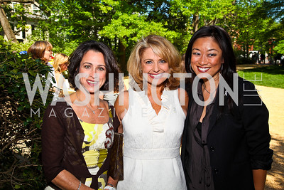 Susan Toffler, Rebecca Cooper, Pamela Sorensen. Photo by Tony Powell. 18th Annual White House Correspondents' Garden Brunch. Beall-Washington House. April 30, 2011