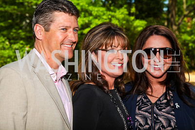 Todd, Sarah, and Bristol Palin. Photo by Tony Powell. 18th Annual White House Correspondents' Garden Brunch. Beall-Washington House. April 30, 2011