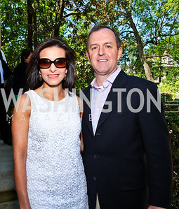 Dina Habib Powell and Rick Powell. Photo by Tony Powell. 18th Annual White House Correspondents' Garden Brunch. Beall-Washington House. April 30, 2011