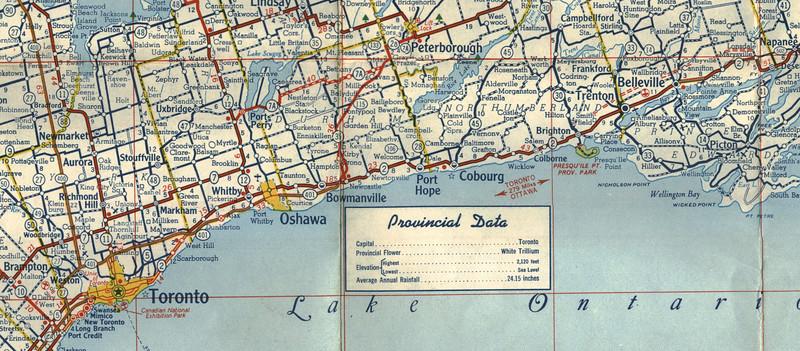 1958 Ontario Highway Map paullantz