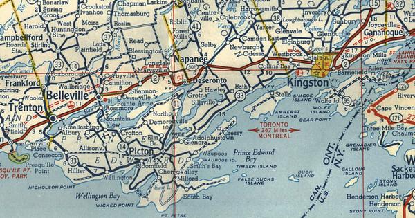 1958 Ontario Highway Map