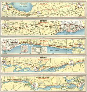 1962 Fina map of Ontario Highway 401
