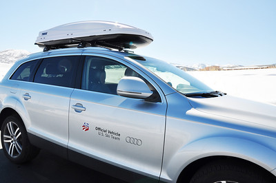 Thule, the official cargo box and rack, of the U.S. Ski Team. Photo: Katie Perhai/USSA